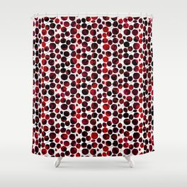 nice-feuilles-Rouge Shower Curtain