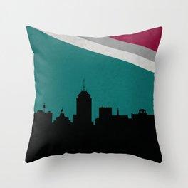 Fresno Skyline Throw Pillow
