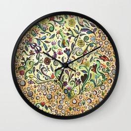 Flower Garden Path Wall Clock