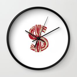 bacon bucks 2 Wall Clock