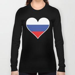Russian Flag Heart Long Sleeve T-shirt