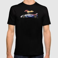 1996 McLaren F1 GTR #17R FINA Mens Fitted Tee MEDIUM Black