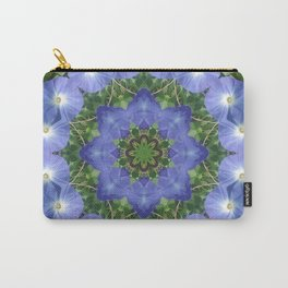 Heavenly Blue Morning Glory mandala 1057 Carry-All Pouch