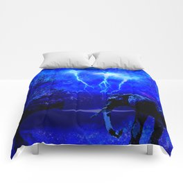 ELEPHANT LIGHTNING AND AFRICAN NIGHTS Comforters