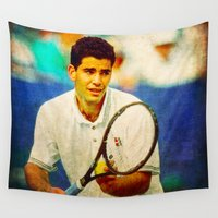 tennis Wall Tapestries featuring Sampras Tennis by BixAri