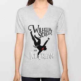 Wilhelm Scream! (for ice cream) Unisex V-Neck