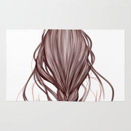The Brown Hair Girl Rug