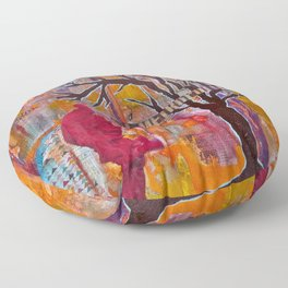 Finding My Way (The Path to Self Discovery/Actualization) Floor Pillow
