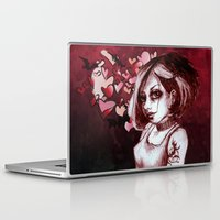 goth Laptop & iPad Skins featuring The Goth by Z imagination
