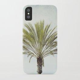 Palm Tree Photography, California Beach Coastal Art, Palm Trees Sky iPhone Case