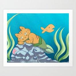 I Hate Living in Water Art Print