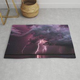 Lightening Strike in Purple Storm Rug