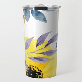 FLOWERS WATERCOLOR 10 Travel Mug