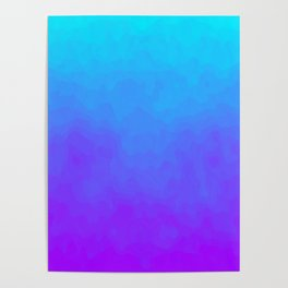 Blue and Purple Ombre - Swirly Poster