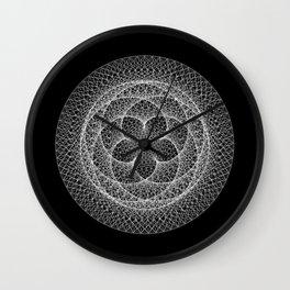 Venus Flower - Black Wall Clock