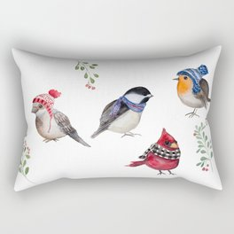 Birds of a Christmas feather Rectangular Pillow