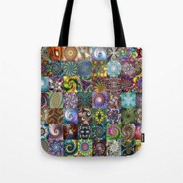 Fractals Montage Tote Bag