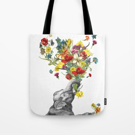 Happy Baby Elephant Tote Bag