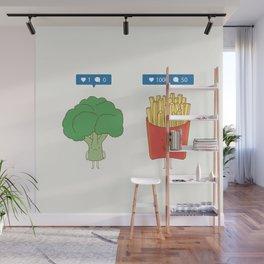veggie on social media Wall Mural
