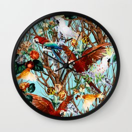 Floral and Birds XXX Wall Clock