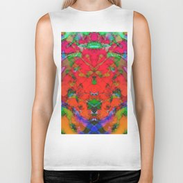 Little red symmetry Biker Tank