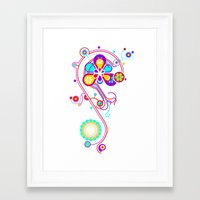 psychedelic Framed Art Prints featuring Psychedelic by tuditees