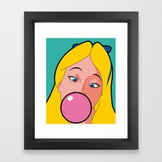 The secret life of heroes - AliceGum Framed Art Print
