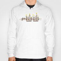 music notes Hoodies featuring Music notes garden by Picomodi
