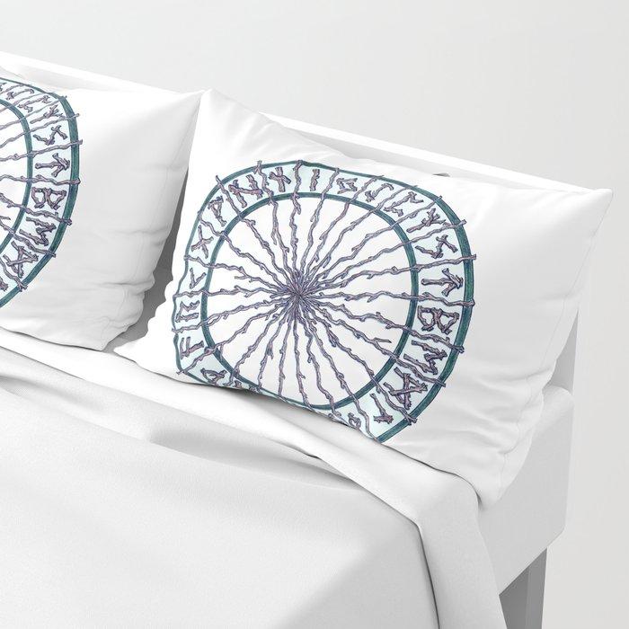 Elder Futhark Rune Wheel Pillow Sham