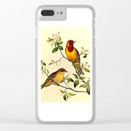 Red-Headed Bunting Clear iPhone Case