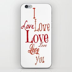 I LOVE YOU iPhone & iPod Skin