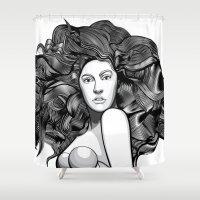 artrave Shower Curtains featuring artRAVE ARTPOP by Alli Vanes