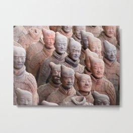 Xian Terracotta Warriors Metal Print
