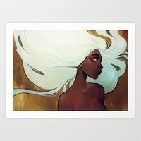 loish Art Prints featuring glow in the dark by loish