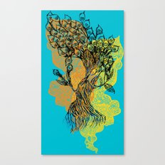 peacock tree Canvas Print