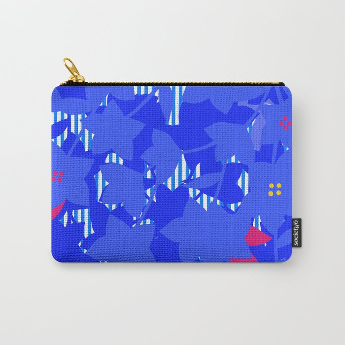 Balloonflower pouch - blue Carry-All Pouch