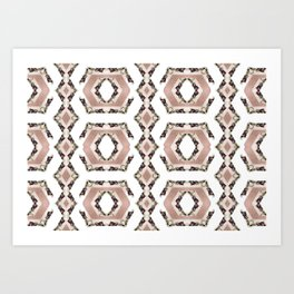 Fruit Diamonds Photographic Pattern #2 Art Print