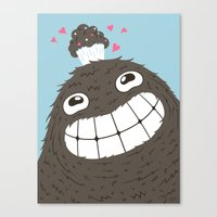 cupcake Canvas Prints featuring Cupcake by Greg Abbott