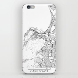 Cape Town Map White iPhone Skin