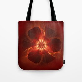 Fire Flower Tote Bag