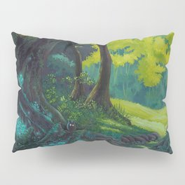 Magic forest glade art bright colors Pillow Sham