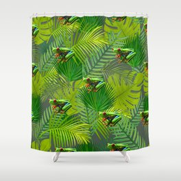 Frog Forest Shower Curtain
