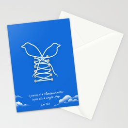 A Journey of A Thousand Miles Begins With A Single Step- Lao Tzu Quote Stationery Cards