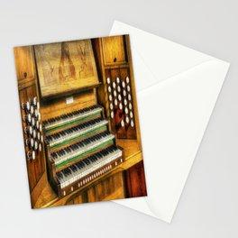Church Organ Art Stationery Cards