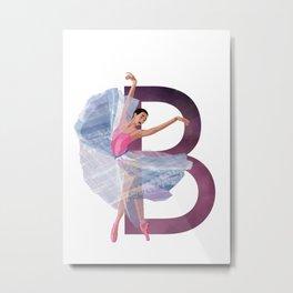 B - Ballerina Metal Print