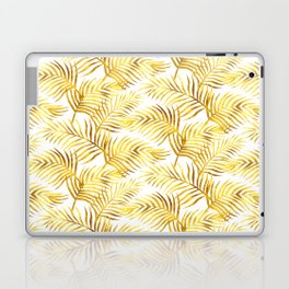 Palm Leaves_Gold and White Laptop & iPad Skin