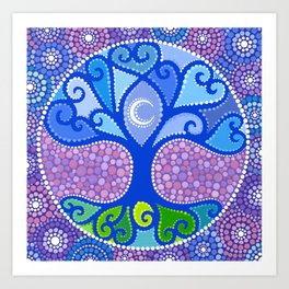 Moon-Tree Mandala Art Print