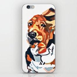 Basset Hound Flying Ears Portrait iPhone Skin