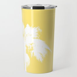 Palm Silhouettes On Yellow Travel Mug