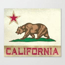 Vintage California Flag Canvas Print